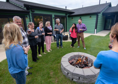 groove health and fitness retreat and conference center backyard fire pit